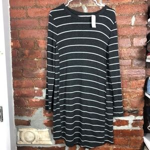 Lou & Grey Striped Comfy Long Sleeve Dress S